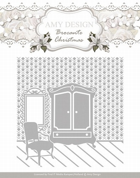 Amy Design Embossing Folder Brocante ADEMB10003  per stuk