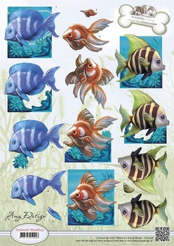 Amy Design knipvel Animal Medley - Tropical Fish CD10538  per vel