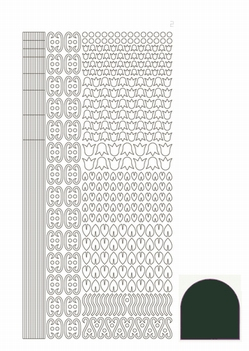 Hobbydots Sticker - Mirror - Christmas Green STDM12J  per vel