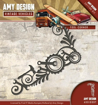 Amy Design Snijmal Vintage Vehicles Tool Corner ADD10097  per stuk