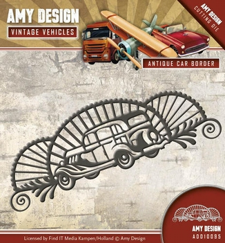 Amy Design Snijmal Vintage Vehicles Car Border ADD10095  per stuk