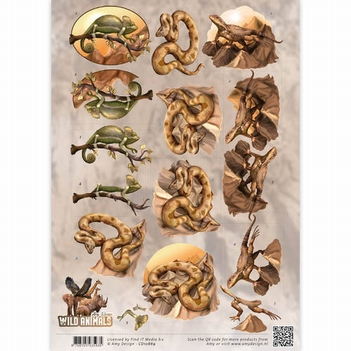 Amy Design knipvel Wild Animals - Reptiles CD10869  per vel