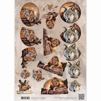 Amy Design knipvel Wild Animals - Big Five 1   CD10866  per vel