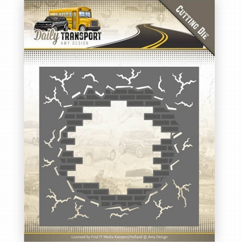 Amy Design Snijmal Daily Transport - Brick in Wall ADD10128  per stuk