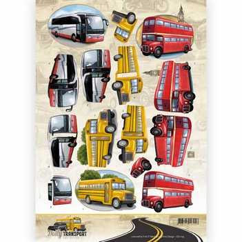 Amy Design knipvel Daily Transport - By Bus CD11035  per vel
