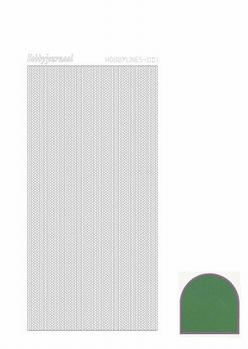 Hobbylines Sticker Mirror Green HLM012  per vel