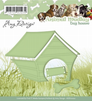 Amy Design Snijmal - Animal Medley - Dog House ADD10022  per stuk