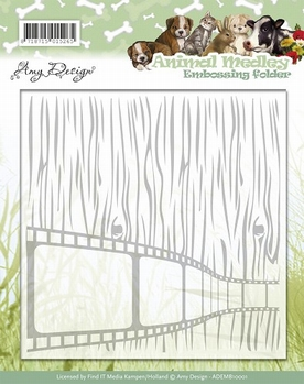 Amy Design Embossing Folder Animal Medley ADEMB10001  per stuk