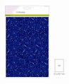 Craft Emotions Glitterpapier Blauw 1290/0120 per vel