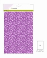 Craft Emotions Glitterpapier Lila 1290/0125 per vel