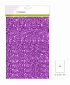 Craft Emotions Glitterpapier Paars 1290/0130 per vel