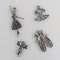 Nellie Snellen Metal Charms Girls CHARM002 per verpakking