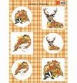 Marianne Design Knipvel Autumn Animals - Deer VK9545  per vel
