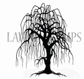 Lavinia Clear Stamp Weeping Willow Tree LAV296  per stuk