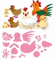 Marianne Design Collectables Eline's Chicken Family COL1429 per stuk