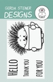 Gerda Steiner Clear Stamp Hedgehog with Sign GSD522 per stuk