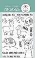 Gerda Steiner Clear Stamp Llama tell You GSD533 per stuk