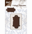 Joy Crafts Snijmal Vintage Flourishes Label  6003/0079 per stuk