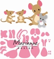Marianne Design Collectables Eline's Mice Family COL1437 per stuk