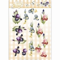 Precious Marieke knipvel Early Spring - Irises CD11024 per vel