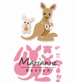 Marianne Design Collectables Eline's Kangeroo & Baby COL1446 per stuk