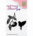 Nellie Snellen Silhouette Clear Stamp Bird Song 4    SIL029 per stuk