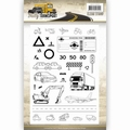 Amy Design Clear Stamp Daily Transport ADCS10035 per stuk