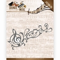 Amy Design Snijmal Sounds of Music - Music Swirl ADD10136 per stuk