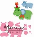 Marianne Design Collectables Eline's Happy Hippo COL1450 per stuk