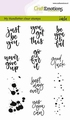 Craft Emotions Clear Stamp Handlettering 130501/1806 per stuk