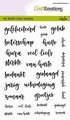 Craft Emotions Clear Stamp Handlettering 130501/1707 per stuk