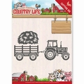 Yvonne Creations Die Country Life - Tractor YCD10124 per stuk