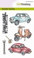 Craft Emotions Clear Stamp Classic Cars 130501/1280 per stuk