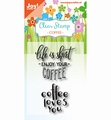 Joy! Crafts Clear Stamp Coffee txt - Enjoy 6410/0476 per stuk