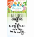 Joy! Crafts Clear Stamp Coffee txt - Hug in a Mug 6410/0474 per stuk