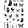 Card-io Clear Stamp Cake Accessories CDCCSTCAK-01 per stuk