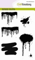Craft Emotions Clear Stamp Drips, Splashes 130501/1287 per stuk