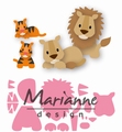 Marianne Design Collectables Eline's Lion / Tiger COL1455 per stuk