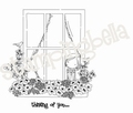 Uptown Girls Cling Stamp Winnie peeking out the Window EB226 per stuk