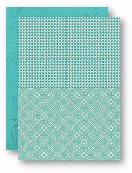 Nellie Snellen Achtergrondvel Turquoise Retro NEVA048*
