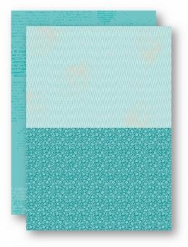 Nellie Snellen Achtergrondvel Turquoise Flowers 2   NEVA049*