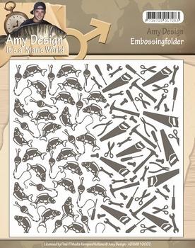 Amy Design Embossing Folder It's a Men's World ADEMB10002  per stuk