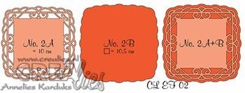 Crealies Elegant Frames nr. 2 CLEF02*
