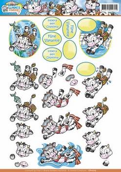 Yvonne Creations knipvel Summer Holiday - Swimming CD10723