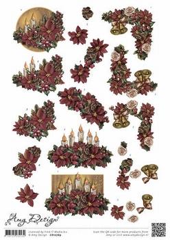 Amy Design knipvel Poinsettia CD10769