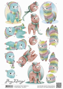 Amy Design knipvel Alpacas CD10810  per vel