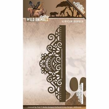 Amy Design Snijmal Wild Animals - African Border ADD10105  per stuk