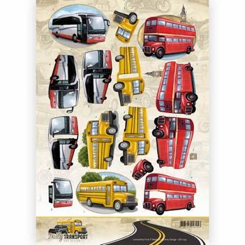 Amy Design knipvel Daily Transport - By Bus CD11035  per vel