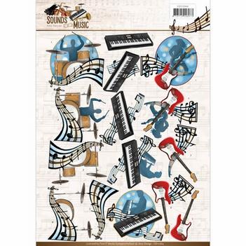 Amy Design knipvel Sounds of Music - Pop CD11064  per vel