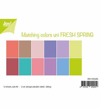 Joy! Crafts Papierset Matching Colors Fresh Spring 6011/0562  per stuk